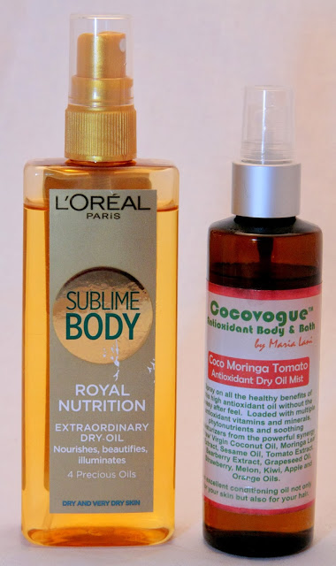 Eļļas kermenim: L'Oreal Sublime Body dry oil vs.Cocovogue dry oil mist