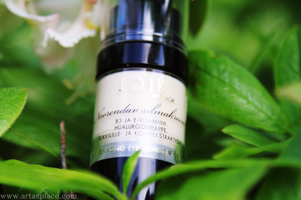 Rejuvenating eye contour cream with vitamins B3 and E, hyaluronic acid, cornflower and coffee extracts artasplace.com